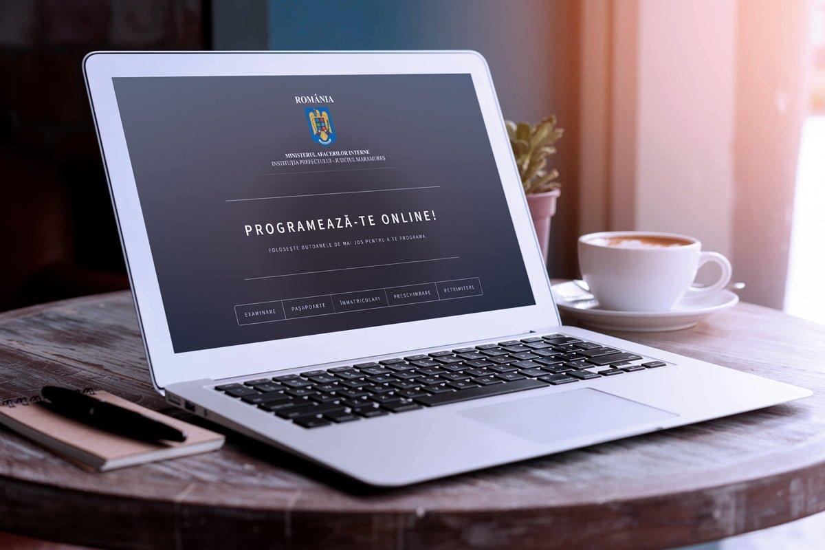 Sistem de programări online Prefectura Maramureș – permise, pașapoarte, înmatriculări